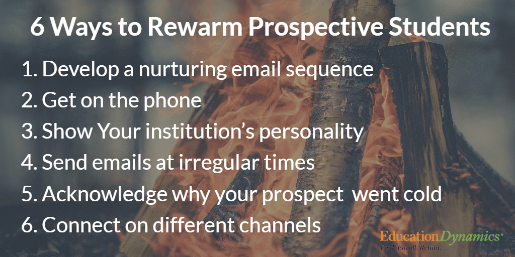 6 Ways to Rewarm Prospective Students – Finding Value in Closed Leads
