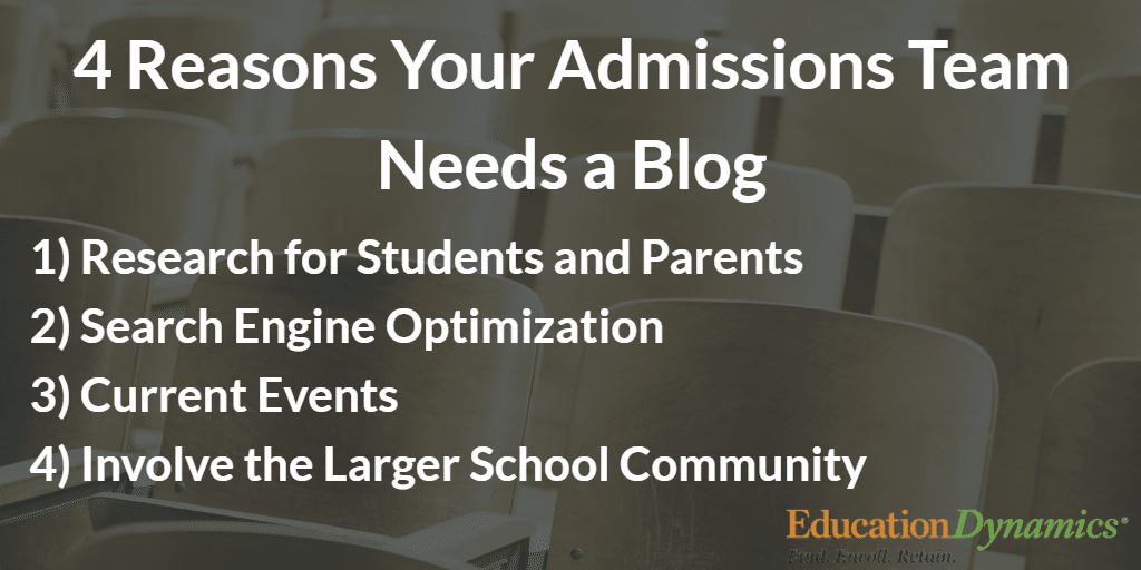 Does Your Admissions Team Need a Blog?