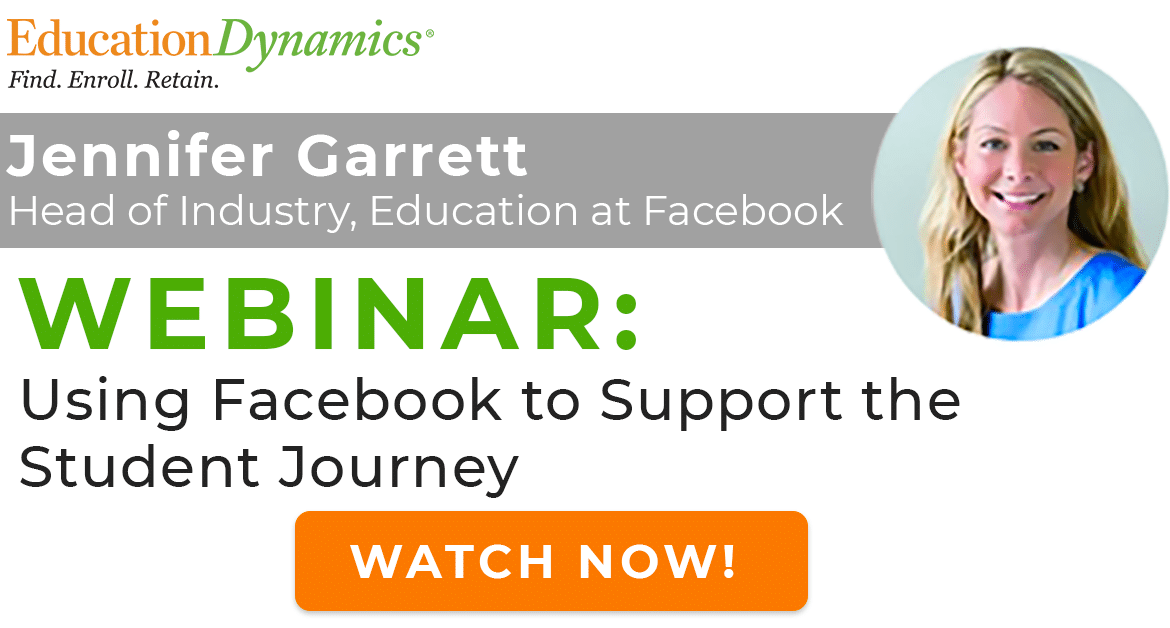 [Webinar On Demand] Using Facebook to Improve the Student Journey