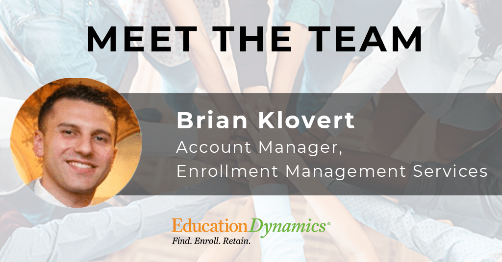 Meet the Team: Brian Klovert, Account Manager